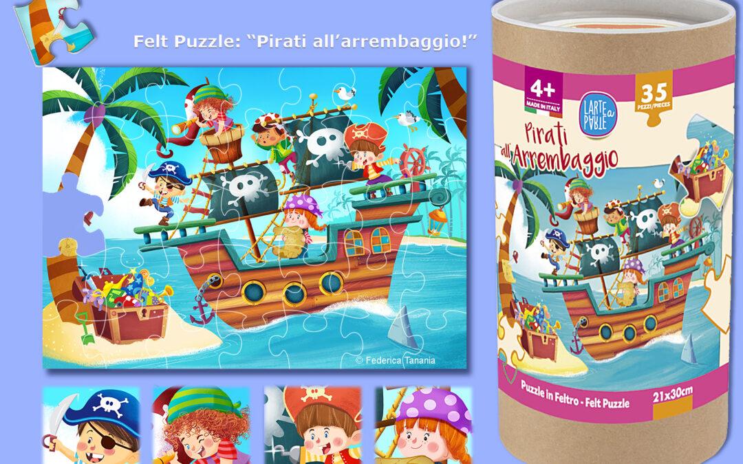Felt Puzzle The pirates