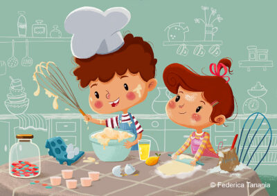 Two little confectioners